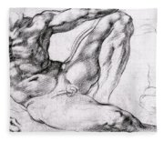 Study For The Creation Of Adam Fleece Blanket