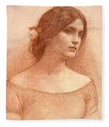 Study For The Lady Clare Fleece Blanket