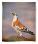 Study Of A Carrier Pigeon Fleece Blanket