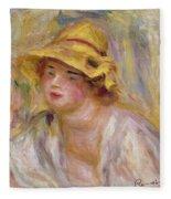 Study Of A Girl, C.1918-19 Fleece Blanket