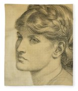 Study Of A Head For The Bower Meadow Fleece Blanket