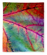 Study Of A Leaf Fleece Blanket