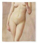 Study Of A Nude II Fleece Blanket