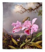 Study Of An Orchid Fleece Blanket