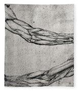 Study Of Arms Fleece Blanket