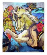 Study Of Da Vinci Fleece Blanket
