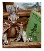 Stuffed Rabbit And Uncle Wiggly Book Fleece Blanket