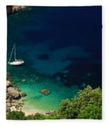 Stunning Beach Kefalonia Fleece Blanket
