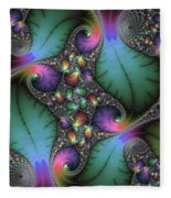 Stunning Mandelbrot Fractal Fleece Blanket