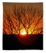 Stunning Stone Park Sunset Fleece Blanket