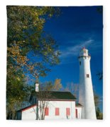 Sturgeon Point Lighthouse Fleece Blanket