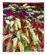 Stylized Spirea - Flowering Plant - Gardener Fleece Blanket