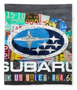 Subaru License Plate Map Sales Celebration Limited Edition 2013 Art Fleece Blanket