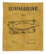 Submarine Patent 3 Fleece Blanket
