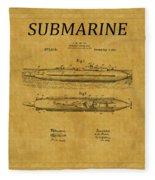 Submarine Patent 7 Fleece Blanket