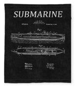 Submarine Patent 8 Fleece Blanket
