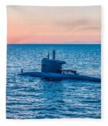 Submarine Sunset Fleece Blanket