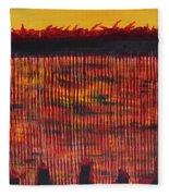 Subterranean Skyline Fleece Blanket