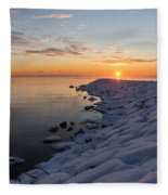 Subtle Pinks And Golds And Violets In A Bright Sunrise Fleece Blanket