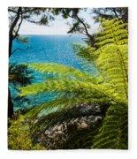 Subtropical Forest Of Abel Tasman Np In New Zealand Fleece Blanket