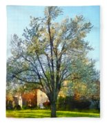 Suburbs - Late Afternoon In Spring Fleece Blanket
