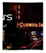 Subway Inn Bar - Vanishing Places Of New York Fleece Blanket