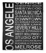 Subway Los Angeles 1 Fleece Blanket