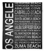 Subway Los Angeles 3 Fleece Blanket