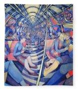 Subway Nyc, 1994 Oil On Canvas Fleece Blanket