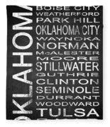 Subway Oklahoma State 1 Fleece Blanket