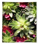 Succulent Beauties Fleece Blanket