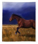 Galloping Horse Painting Fleece Blanket