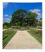 Sudeley Castle Gardens In The Cotswolds Fleece Blanket