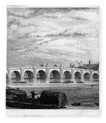 Suez Canal, 1894 Fleece Blanket