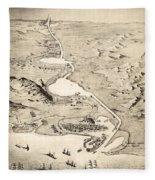 Suez Canal Fleece Blanket