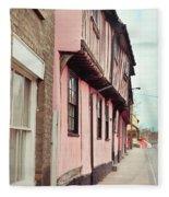 Suffolk Town Houses Fleece Blanket