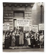 Suffrage Protest, 1916 Fleece Blanket