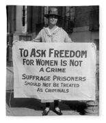 Suffragist 1917 Fleece Blanket