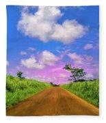 Sugar Cane Sunrise Fleece Blanket