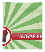 Sugar Free Banner Fleece Blanket