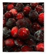 Sugared Cranberries Fleece Blanket