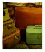 Suitcases In The Attic Fleece Blanket