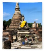 Sukhothai Historical Park Fleece Blanket