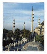 Suleymanhe Mosque, The Bizaar Quarter Fleece Blanket