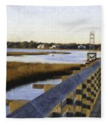 Sullivan's Island To Old Village Fleece Blanket