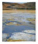 Sulphur And Volcanic Earth Fleece Blanket