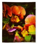 Sultry Nights - Flower Photography Fleece Blanket