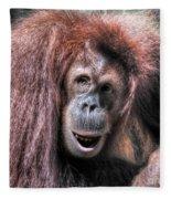 Sumatran Orangutan Fleece Blanket