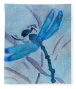 Sumi Dragonfly Fleece Blanket