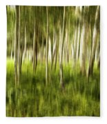 Summer Aspens Fleece Blanket